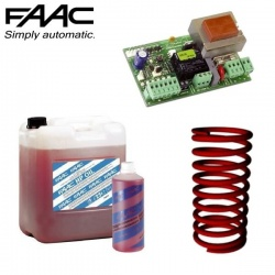 <br> FAAC 615 BPR Barrier Hydraulic Fluid, Control Board & Springs </br>