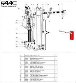 FAAC B650H Exploded Diagram
