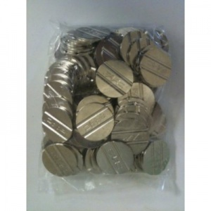 FAAC Double Groove Tokens 27mm Diameter